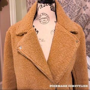 Missguided Jackets & Coats - MINT Missguided Faux Shearling Biker Jacket
